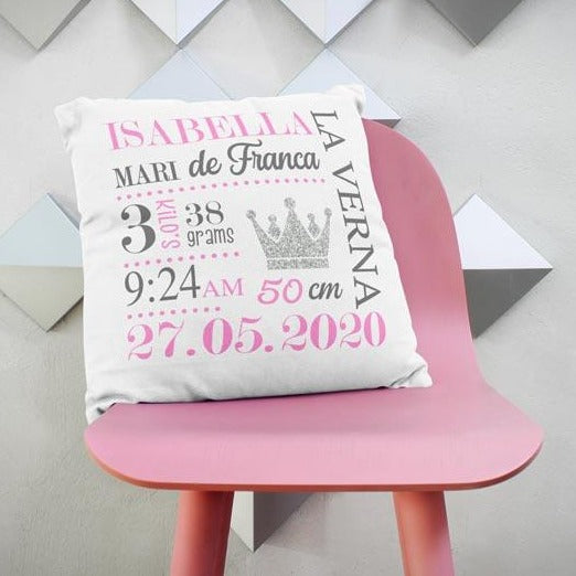 Birthdate Announcement Cushion georgie and moon