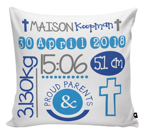 SCATTER PILLOW - BIRTH ANNOUNCEMENT - Georgie & Moon