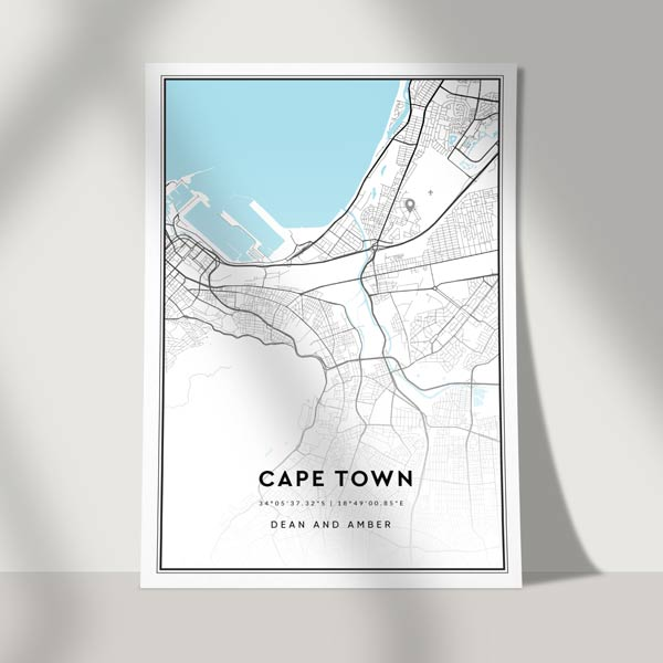 location map - city road poster print - personalised map print