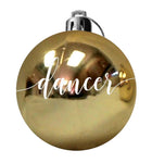CHRISTMAS BAUBLE - PERSONALISED COLOURED PLASTIC CHRISTMAS BAUBLE - Georgie & Moon
