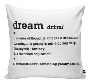 SCATTER PILLOW DICTIONARY QUOTES - Georgie & Moon