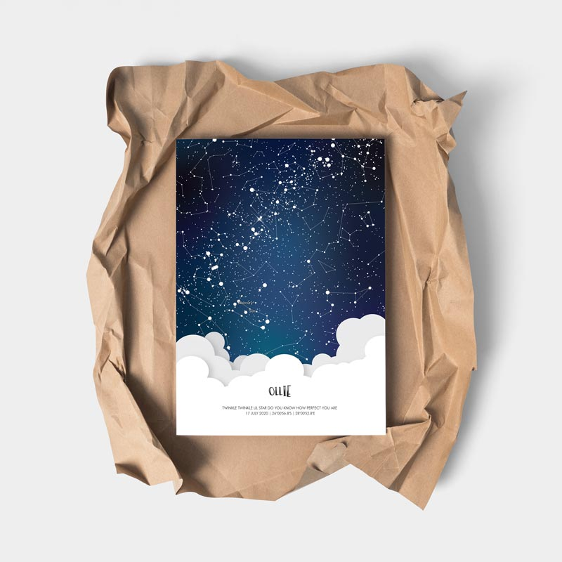 star map personalised for kids