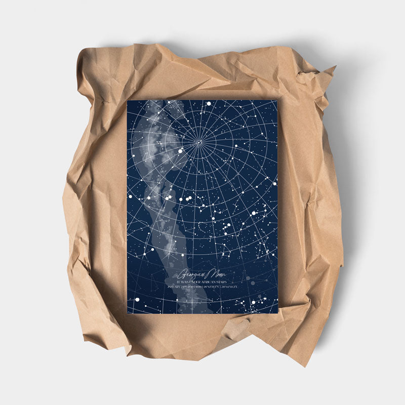 star map blue full page download made in south Africa