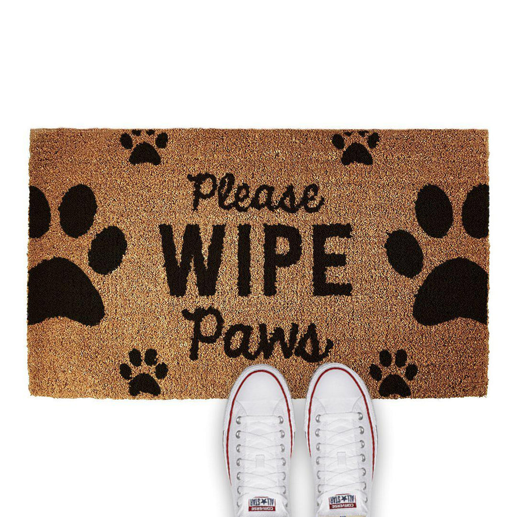 PERSONALISED DOOR MAT - WIPE YOUR PAWS - Georgie & Moon