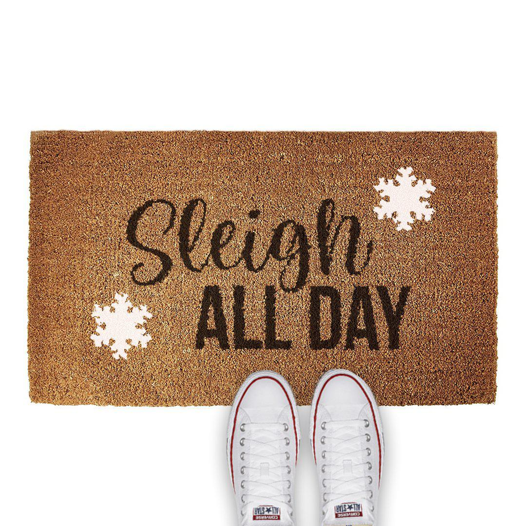 CUSTOM DOOR MAT - SLEIGH ALL DAY - Georgie & Moon