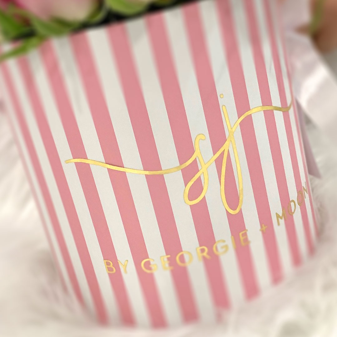 PERSONALISED FLOWER BOXES - Pink Roses - Georgie & Moon