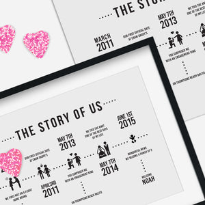 PERSONALISED STORY OF US ICONS IN FRAME - Georgie & Moon