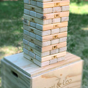 GIANT JENGA - 54 PIECES & BOX - Georgie & Moon