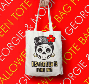 PERSONALISED HALLOWEEN TOTE BAG LOOT BAG - Georgie & Moon