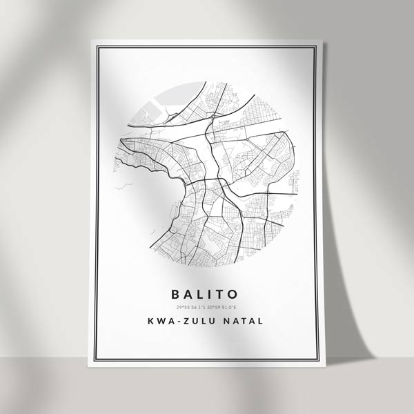 mapped art poster print - city road map art poster