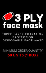 DISPOSABLE MASK - 3 LAYER FILTRATION PROTECTION - Georgie & Moon
