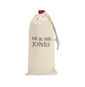 MR & MRS CUSTOMIZED WINE BAG - Georgie & Moon