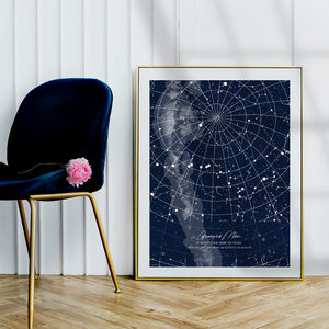star map blue in a frame full page made in south Africa
