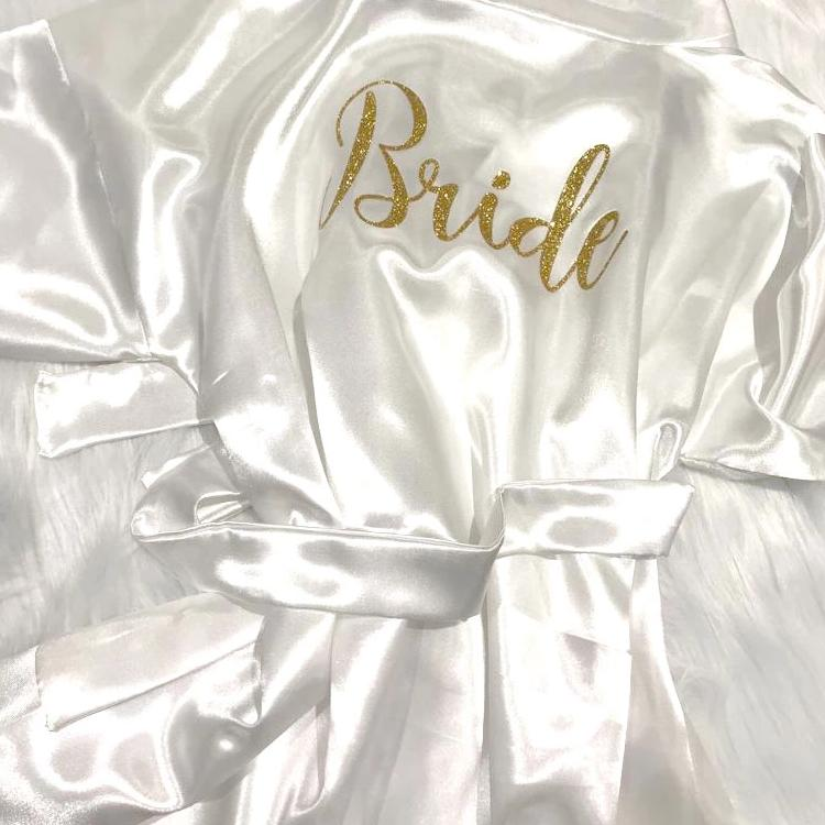 PERSONALISED BRIDAL DRESSING GOWN - SATIN - Georgie & Moon
