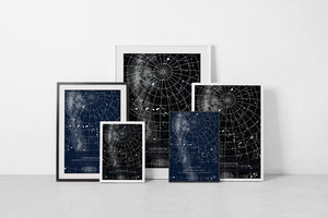 many framed star maps