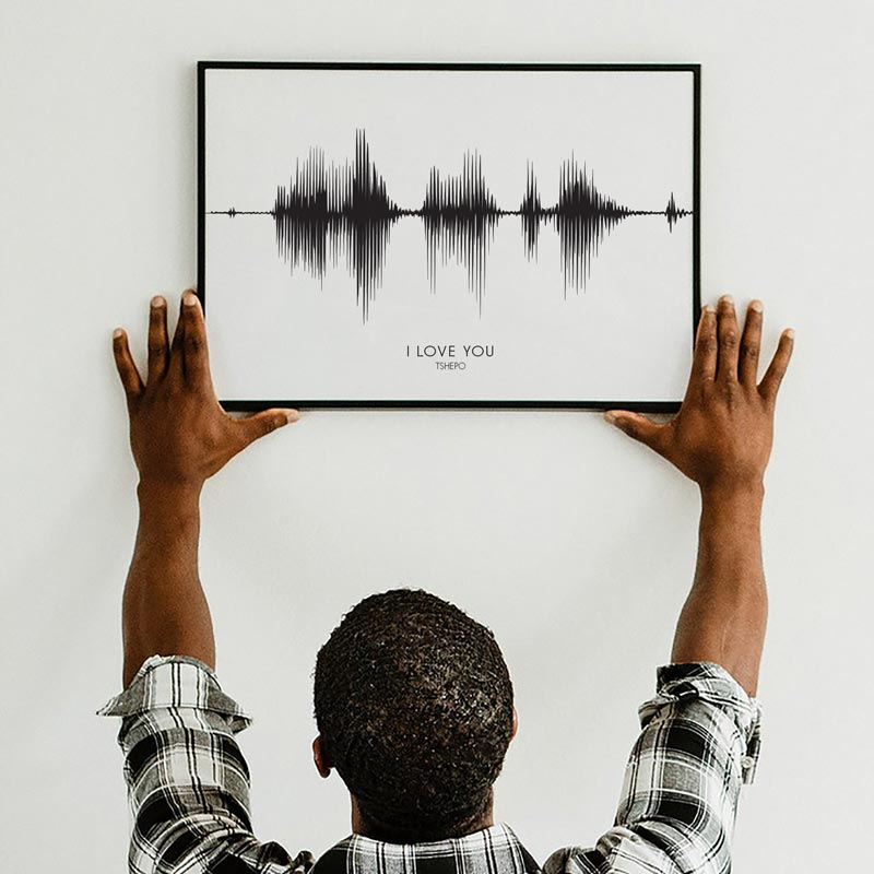 PERSONALISED SOUND WAVE | SV1 - Georgie & Moon