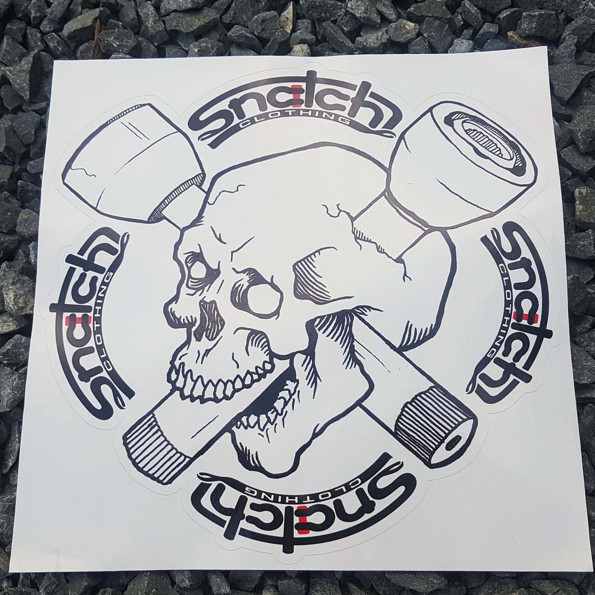 Skull and CV sticker