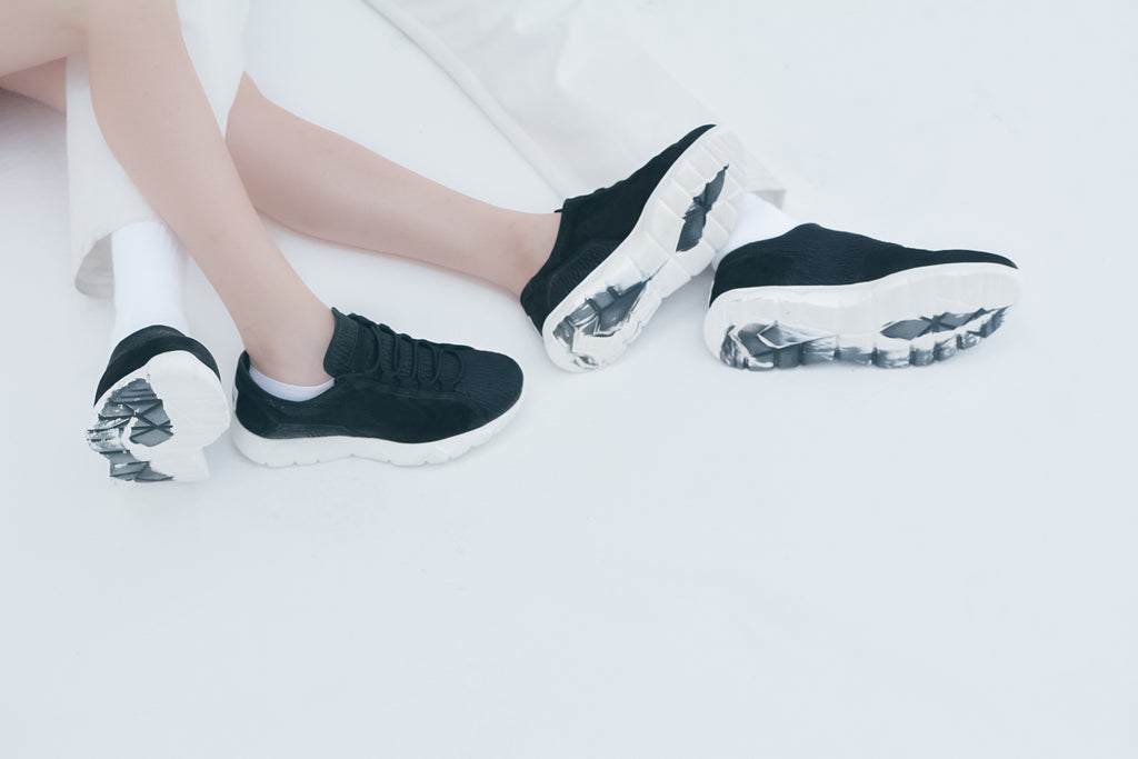 Designer Sneakers Low Black ⎜ LE FLOW Paris