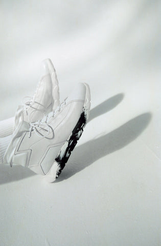 Designer Sneakers High White ⎜ LE FLOW Paris