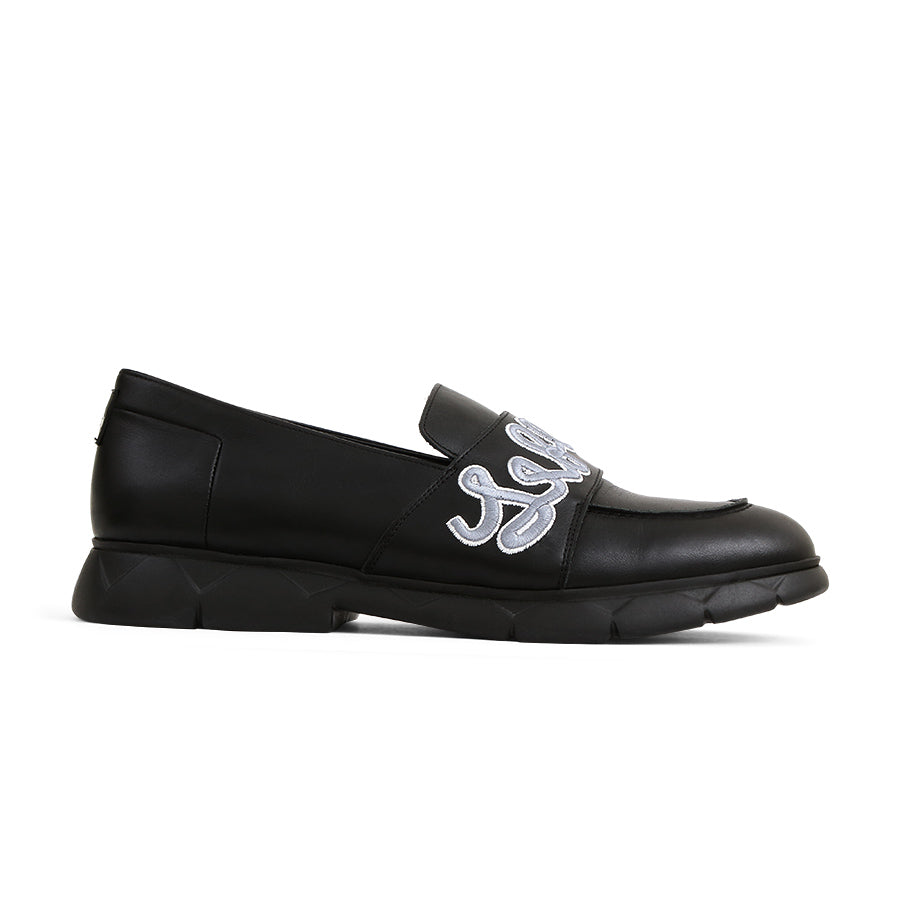 Slip-On Loafers Black Leather Designer Shoes⎜ LE FLOW Paris