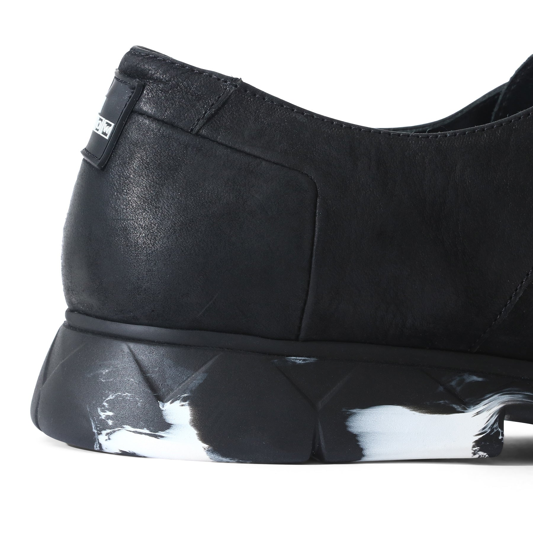 Derby Designer Shoe in Black Matte Leather ⎜ LE FLOW Paris