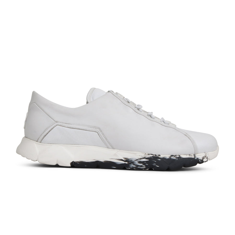 Low Designer Sneaker in White Leather⎜LE FLOW Paris