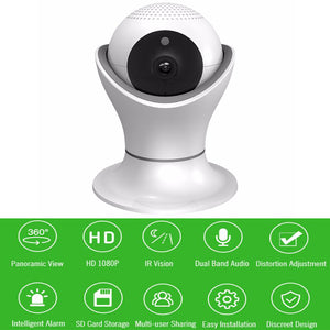360 Smart Wifi Camera Wireless Home Security Surveillance Night Vision CCTV - Surveillance Cameras | Ziloda