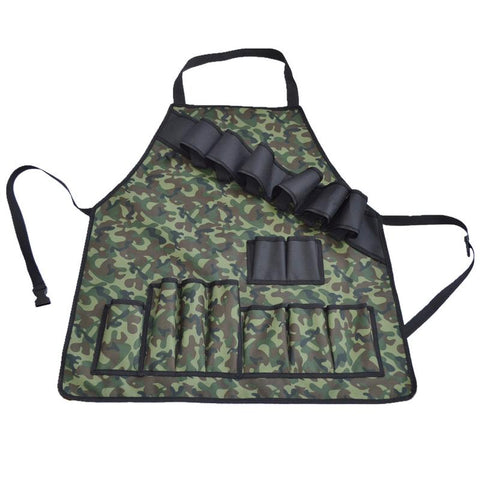 Camouflage Outdoor Picnic BBQ Grill Apron With Tool Pockets and Beer/Spice Bottles Holder - Home & Kitchen | Ziloda