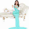 Image of Mermaid Tail Crochet Blanket for Adult Kid - Blanket | Ziloda