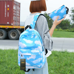 2Pcs 3D Preppy Printing Backpack - Bags | Ziloda