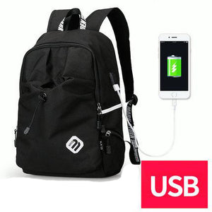 2018 Abstract Printing Mens USB Charging Backpack - Backpack | Ziloda