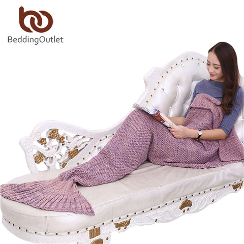 Mermaid Tail Crochet Blanket for Adult Kid - Blanket | Ziloda