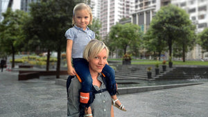 Hands-Free Shoulder Child Carrier with Ankle Straps Back Rider - Backpacks & Carriers | Ziloda