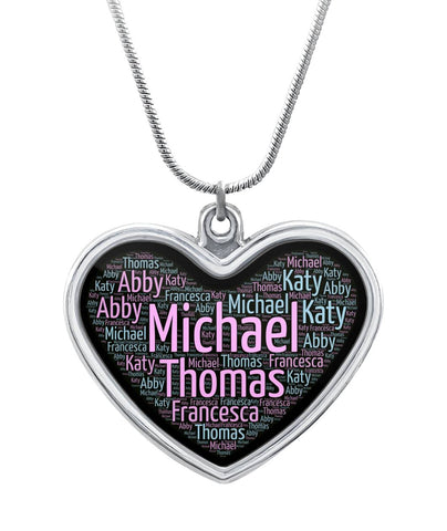 CUSTOM NAME NECKLACE Heart Necklace - Jewelry | Ziloda