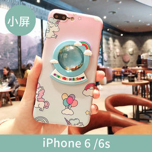 Unicorn Over the Rainbow Animated Phone Case For iPhone