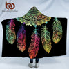 Image of Bohemian Hooded Blanket - Hooded Blanket | Ziloda