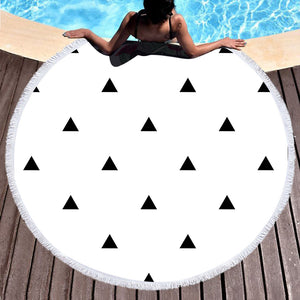 BeddingOutlet Large Round Beach Towel Microfiber Bath Towel for Adults Summer Toalla Tassel Tapestry Serviette De Plage 150cm - Round Beach Towel | Ziloda