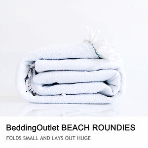 BeddingOutlet Round Beach Towel For Kids With Tassel Blanket Husky Printed Microfiber Bath Towel Large 150cm Yoga Mat Blanket - Round Beach Towel | Ziloda