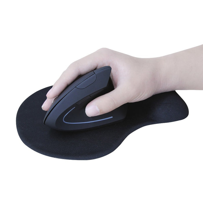 Ergonomic Wireless Optical Colorful Light Mouse with Mouse Pad