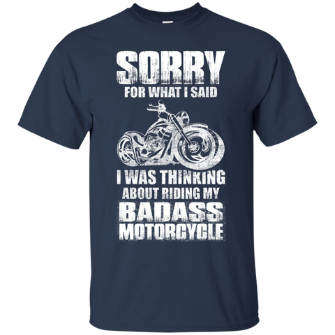 Biker Tshirt - sorry - Apparel | Ziloda