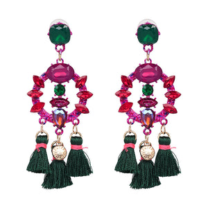 Luxury Pendant Tassel Statement Earrings -  | Ziloda