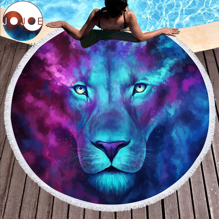 Firstborn by JoJoesArt Large Round Beach Towel