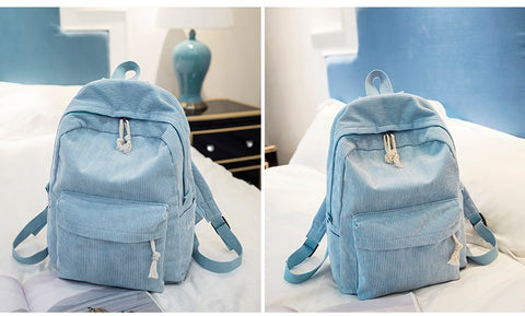 Preppy Style Soft Fabric Womens Backpack - Backpacks | Ziloda