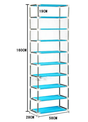 9 Tier Rack Shoe Storage Shelves Organizer - Shoe Cabinets | Ziloda
