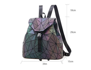 2018 Geometric Luminous Diamond Drawstring Backpack - Backpacks | Ziloda