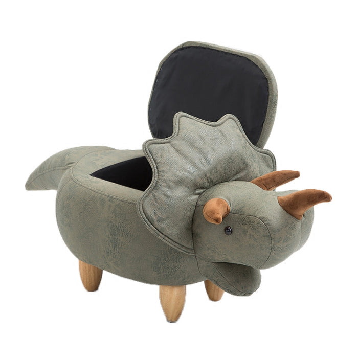 Eco-friendly Dinosaur Sofa Footstool And Storage Organizer Box
