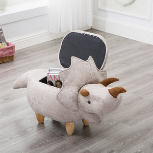 Eco-friendly Dinosaur Sofa Footstool And Storage Organizer Box - Animal Footstool | Ziloda