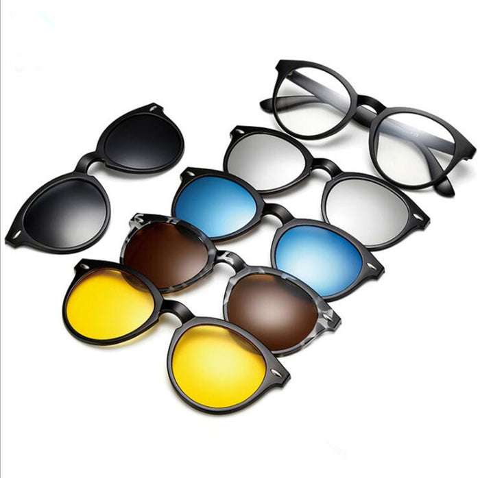 5pcs Magnetic Polarized Retro Fashion Sunglasses