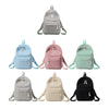 Image of Preppy Style Soft Fabric Womens Backpack - Backpacks | Ziloda
