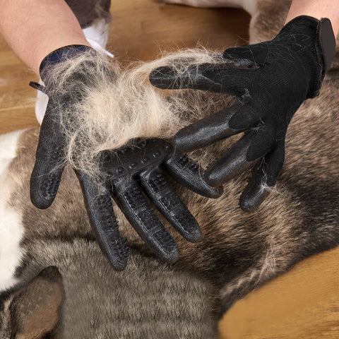 Advanced Rubber Enhanced Five Fingers Deshedding Pet Gloves For Dog Cat Animals - Dog Combs | Ziloda